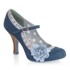 POPPY (Blue/Floral) - Shoes - By Ruby Shoo
