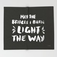 """""""Burned Bridges"""" Throw Blanket by Cat Coquillette on Society6."""