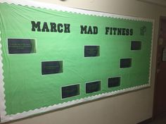 March bulletin board for fitness