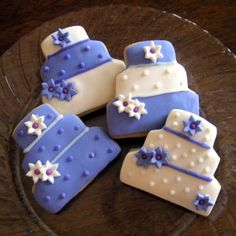 Example Of Wedding Cake Shaped Cookies Due To My Obsession With Sugar This May