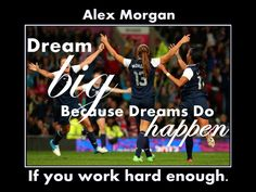 Let Alex Morgan inspire your daughter with this quote poster. It's the ideal birthday wall art gift for an aspiring soccer star. It's an inspiring, lasting gift for any beginner or aspiring soccer player.  This ready-to-frame poster is printed to order on heavyweight satin photo paper.  Buy with confidence. I stand behind everything I sell. If you are not satisfied with any aspect of your purchase please let me know so I can resolve your unmet expectations. Girls Soccer, Play Soccer, Nike Soccer, Soccer Cleats, Soccer Sports, Hard Work Quotes, Work Hard, Soccer Motivation, Alex Morgan Soccer