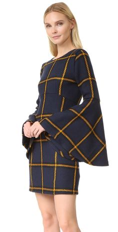 JOUR/NE Long Sleeve Tartan Dress | SHOPBOP Dot Dress, Dress Skirt, Dress Up, Irish Tartan, Tartan Dress, Check Dress, Tweed, Beautiful Dresses, Plaid