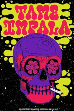 Tame Impala Poster on Behance Poster Art, Design Poster, Poster Prints, Gig Poster, Flyer Design, Tour Posters, Band Posters, Music Posters, Retro Posters