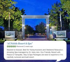Al Nahda Resort & Spa team is delighted to see such heart warming responses on #TripAdvisor!! Thank you Vemuri Ashwin. #ClientFeedback #CustomerReview #FeelPostive #PositiveVibes