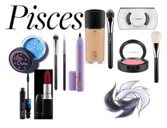 """#piscesbeauty"" by moniybrooks ❤ liked on Polyvore featuring beauty, Lime Crime, MAC Cosmetics, BeautyHoroscope, maccosmetics, Pisces and beautyset"
