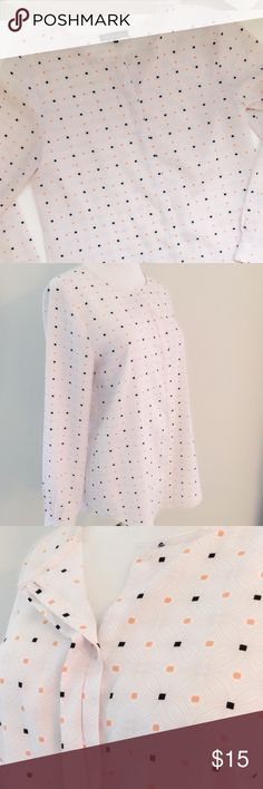 polka dot top. polka dotted long sleeved top. Violet & Claire Tops