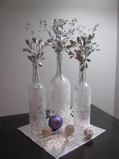 Easy Christmas Wine Bottle Craft