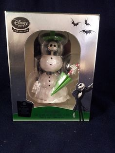 Disney's Nightmare Before Christmas Snowman Jack Skellington Mini Snowglobe NIB