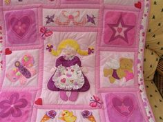 Baby girl Applique quilt hits the post tomorrow!!