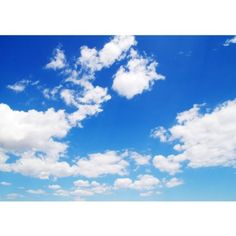 Fleece-Photo-Wallpaper-no-154-Sky-wallpaper-Clouds-Romantic-Holiday-blue