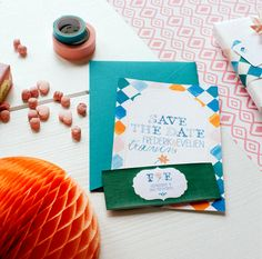 Gypsy save-the-date | Mino Paper Sweets | styling: StyleStek #wedding #stationary