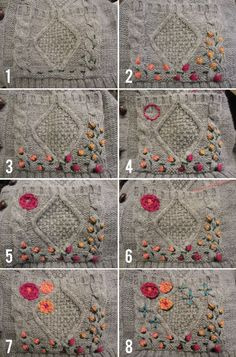 DIY Embroidered Cardigan | Let's Get Thrifty