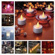 2 x Crystal Diamond Shape Led Candle Tea light LED Colour Changing