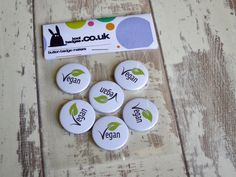 A set of green leaf vegan badges going out in the post. Only 50p each in our 50% off sale. All hand made. https://www.koolbadges.co.uk/index.php?main_page=advanced_search_result&search_in_description=1&keyword=vegan&x=0&y=0&utm_content=buffer3e945&utm_medium=social&utm_source=pinterest.com&utm_campaign=buffer