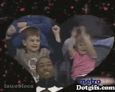 this little girl will succeed in life lol doing it right, that guys face though in front of them!