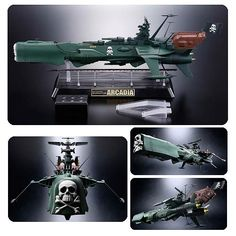 Space Pirate Captain Harlock Battleship Arcadia Vehicle - Bandai Japan - Space Pirate Captain Harlock - Action Figures at Entertainment Earth