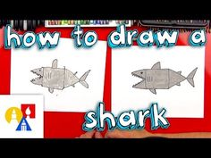 How To Draw A Shark With Shapes (young artists) - Art for Kids Hub