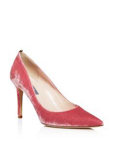 SJP by Sarah Jessica Parker Fawn Velvet Pointed Toe High Heel Pumps - 100%…