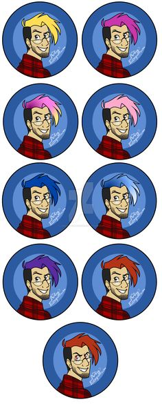 Markiplier Buttons set by LordOfTheShadow97 on DeviantArt