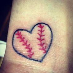 Baseball heart tattoo.....