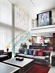 Glastreppe von Siller für exklusives Penthouse Projekt Glass Stairs, Couch, Furniture, Home Decor, Settee, Sofa, Couches, Interior Design, Sofas