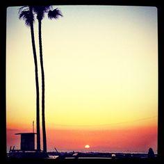 #California #beach #sunset