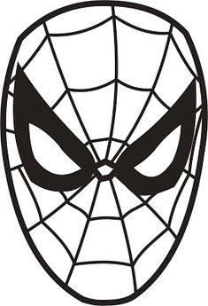 ausmalbild spiderman maske | masken zum ausdrucken, superhelden malvorlagen, masken basteln