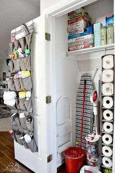 09 Smart Kitchen Organization Ideas On A Budget Linen Closet Organization, Laundry Room Storage, Kitchen Organization, Storage Spaces, Organization Ideas, Laundry Rooms, Storage Shelves, Storage Ideas, Studio Apartment Organization