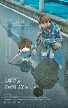 Love Yourself | Fanart V and Baby chibi