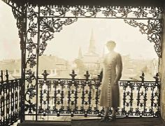 Vintage picture from a balcony overlooking Jackson Square in New Orleans