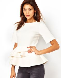 This voumised peplum top is perfect sans-blazer! Perfect for a sheek and glam office look <3 Shop the ASOS top here http://rstyle.me/~F9VA
