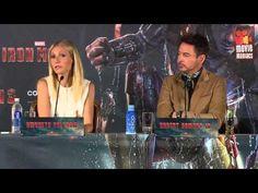 Robert Downey Jr. & Gwyneth Paltrow en Munich promocionando Marvel's IRON MAN 3.