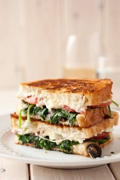 Mediterranean Grilled Cheese Sandwich from @Jaclyn Booton Booton Booton {Cooking Classy}