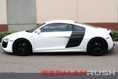 Fitment: Audi R8 2007-2015 These V10 style paintable fiber glass side blades are made of the highest quality to fit this high-end vehicle and are a direct replacement for the OEM side blades and use t