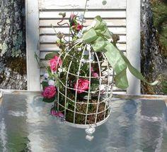 Sweet Cottage Birdcage Arrangement