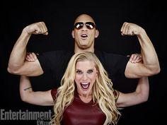 Katee Sackhoff and Vin Diesel, Riddick Vin Diesel, Sunset High School, Santa Monica College, Katee Sackhoff, Television Program, San Diego Comic Con, Entertainment Weekly, Male Beauty, American Actress