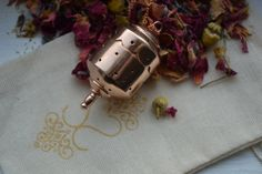 Rosegold Tea Infuser Pendant by sarahasearsjewellery on Etsy