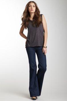 Lila Flap Pocket Flare Jean