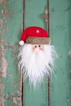DIY Santa craft, santa ornament - I'll never do it but it's cute.