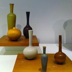 mid century Scandinavian ceramics exhibit at SFO.