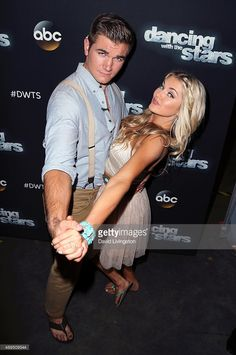 Army National Guard Specialist Alek Skarlatos (L) and dancer/TV personality Lindsay Arnold attend 'Dancing with the Stars' Season 21 at CBS Televison City on September 21, 2015 in Los Angeles, California.