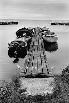 Boats by Dock Black and White Fine Art by KatarinasGallery on Etsy, $35.00