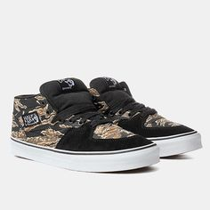 43e997abcd Vans Half Cab Shoes - (tiger Camo) Black