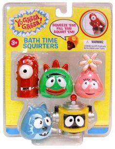 Yo Gabba Gabba Bath Squirters -- Could use these as cake toppers da98f42c0
