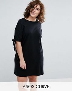 £18 ASOS CURVE T-Shirt Dress with Bow Sleeve