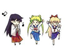 Rei, Usagi, and Minako!