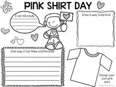 Anti-Bullying Activities and Pink Shirt Day Activities Distance Learning Anti Bullying Activities, Teaching Activities, Activities For Kids, Teaching Ideas, Effects Of Bullying, Learn Krav Maga, Self Defense Women, Pink Day, Holiday Themes