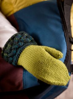 Cabled Cuff Mittens Pattern - Free Knitting Patterns by Kerin Dimeler- Laurence