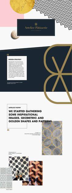Artelice Pâtisserie Branding ▬ by shiraz & daryan on Behance Brand Identity, Branding, Brand Manual, Logo Design, Graphic Design, Design Strategy, Creative, Pattern, Behance