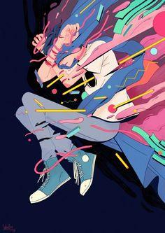New painting art design artworks Ideas Japon Illustration, Illustration Vector, Character Illustration, Aesthetic Art, Aesthetic Anime, Desu Desu, Character Art, Character Design, Digital Illustration